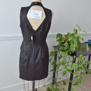 Guess Dresses - Guess Brand New Faux-leather black Cocktail dress